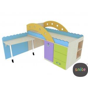 Кровать со встроенным столиком ГР-206 Городок