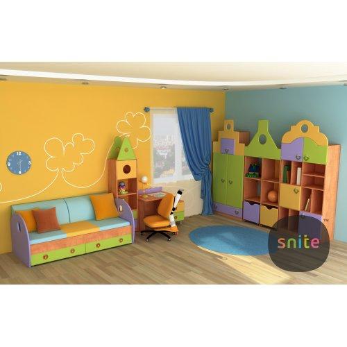 Комплект мебели Городок: оранж