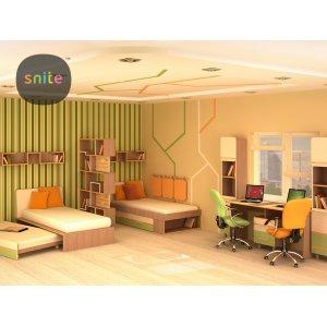 Комплект молодежной мебели Line: красочные линии на двоих