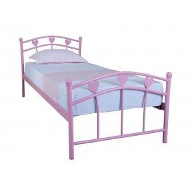 Детская односпальная кровать Eagle MARLENA 90х200 pink