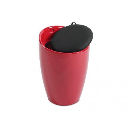 Стул-тумба Тито (красно-черный)