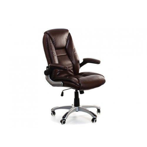 Кресло офисное Ренато (коричневое)