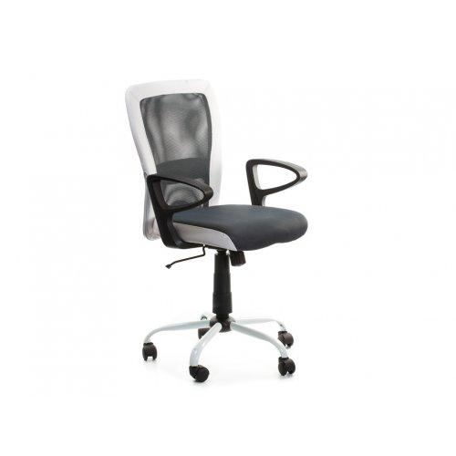 Кресло офисное Паола (черно-белое)