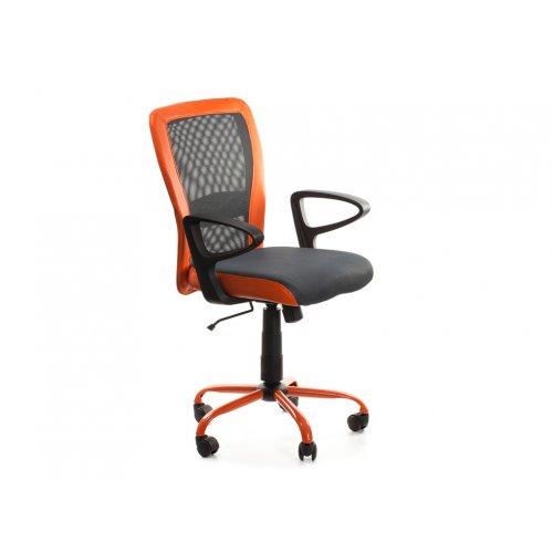 Кресло офисное Паола (серо-оранжевое)