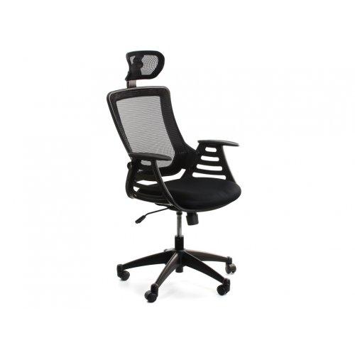 Кресло офисное Драго с подголовником (черное)