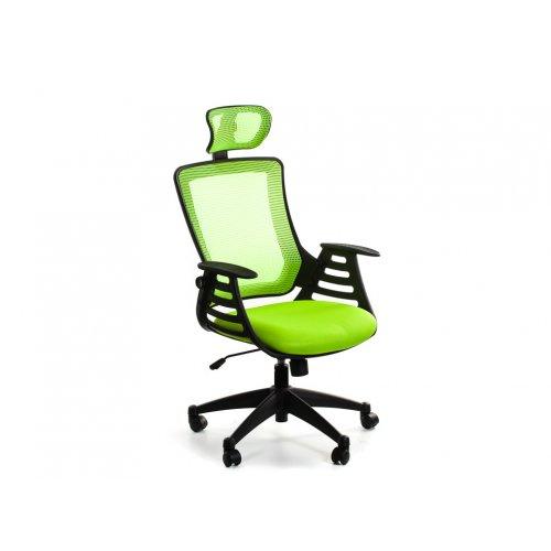 Кресло офисное Драго с подголовником (зеленое)