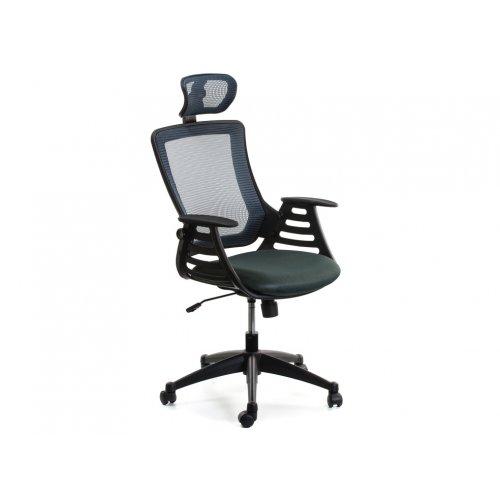 Кресло офисное Драго с подголовником (серое)