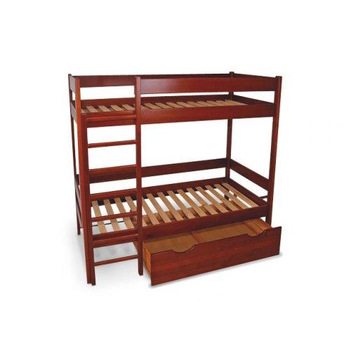Кровать двухъярусная дуб 80х190