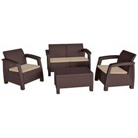 Комплект садовой мебели Bahamas коричневый