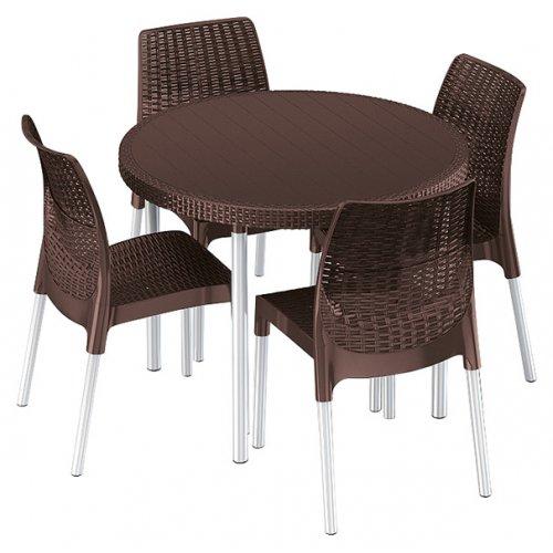Комплект садовой мебели Jersey set коричневый