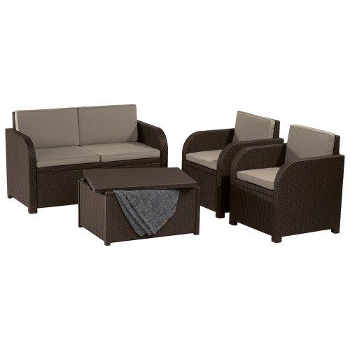 Комплект садовой мебели Modena set коричневый