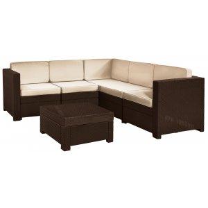 Комплект садовой мебели Provence set коричневый