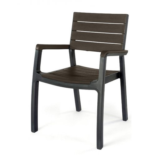 Стул пластиковый Harmony armchair серо-коричневый