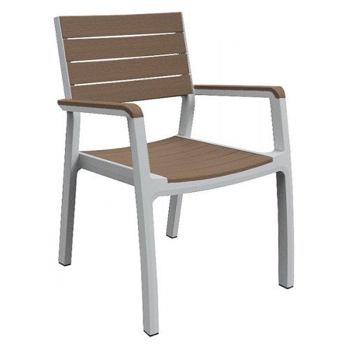 Стул пластиковый Harmony armchair бело-бежевый