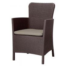 Кресло Miami DC коричнево-бежевое