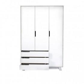 Шкаф 1200Я Манхеттен бело-серый