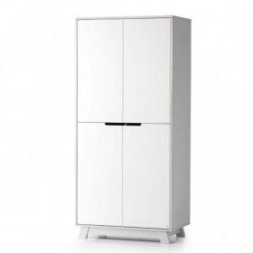 Шкаф 850 Манхеттен бело-серый