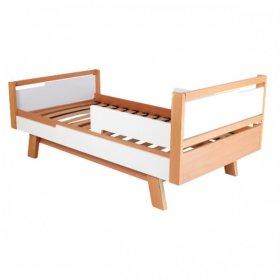 Кровать подростковая Манхэттен 160 бело-буковый
