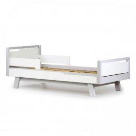 Кровать подростковая Манхэттен 160 бело-серый