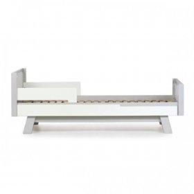 Кровать подростковая Манхэттен 190 бело-серый