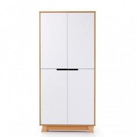 Шкаф 850 Манхеттен бело-буковый