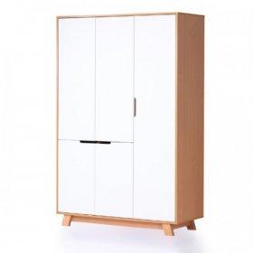Шкаф 1200 Манхеттен бело-буковый