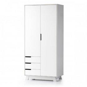 Шкаф 850Я Манхеттен бело-серый