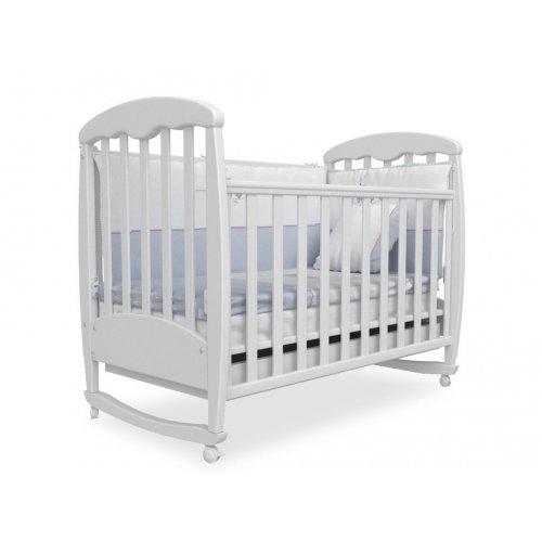 Детская кроватка Соня ЛД-1 белая