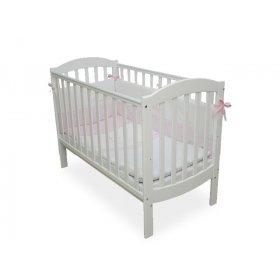 Детская кроватка Соня ЛД-10 белая маятник