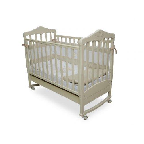 Детская кроватка Соня ЛД-11 Резьба Мишки слоновая кость