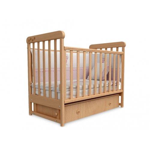 Детская кроватка Соня ЛД-12 бук маятник