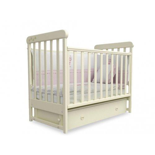 Детская кроватка Соня ЛД-12 слоновая кость маятник
