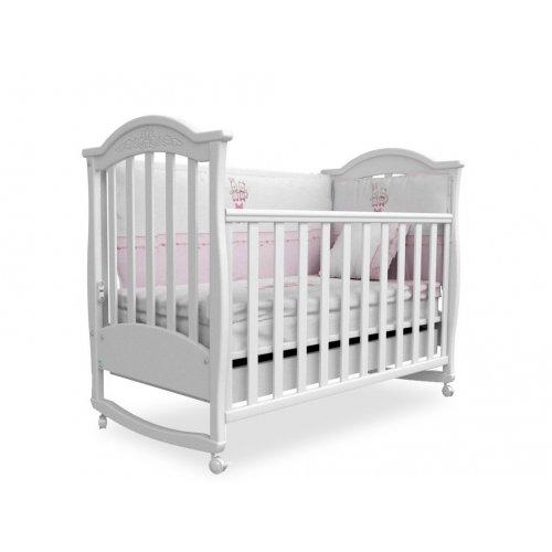 Детская кроватка Соня ЛД-3 белая