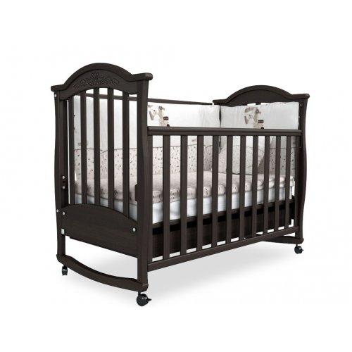 Детская кроватка Соня ЛД-3 орех