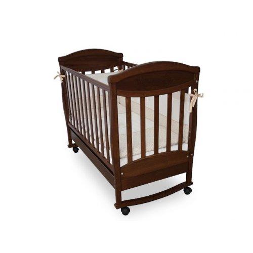 Детская кроватка Соня ЛД-4 Зайка орех