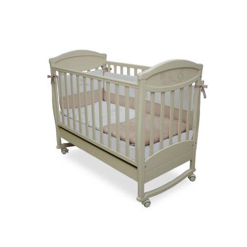 Детская кроватка Соня ЛД-4 Зайка слоновая кость