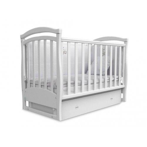 Детская кроватка Соня ЛД-6 белая маятник