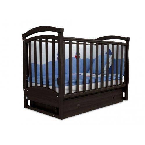 Детская кроватка Соня ЛД-6 орех маятник