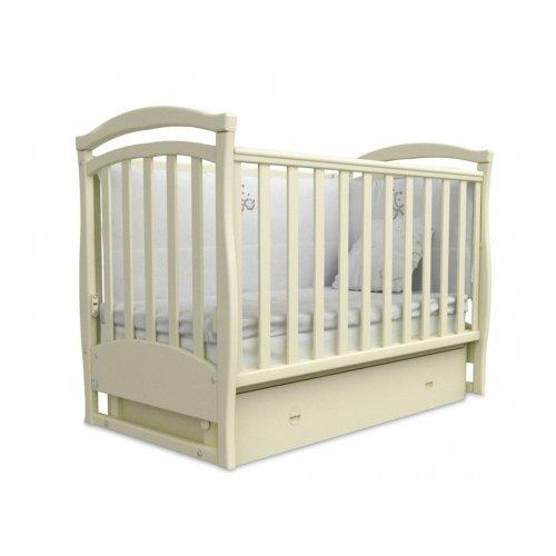 Детская кроватка Соня ЛД-6 слоновая кость маятник