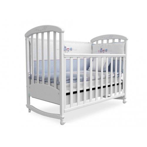 Детская кроватка Соня ЛД-9 белая
