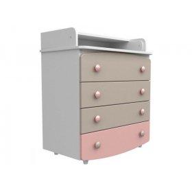 Комод-пеленатор 900 капучино-розовый