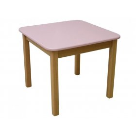 Детский столик розовый