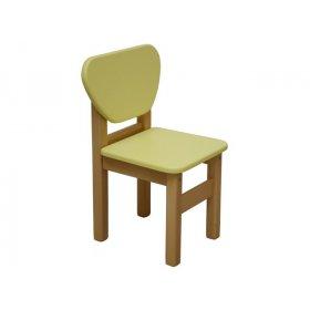 Детский стульчик желтый