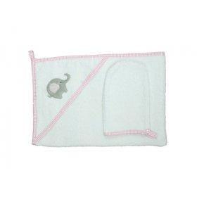 Пеленка для купания Veres Elephant pink