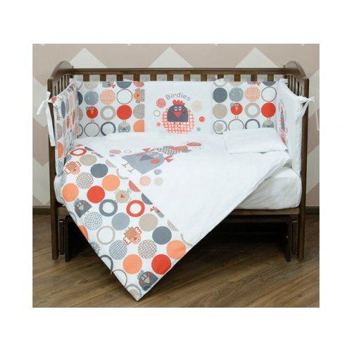 Детский постельный комплект Veres Birdies 6 единиц