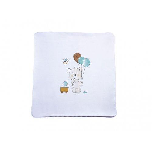 Трикотажный плед Veres Playday white mint 85х95