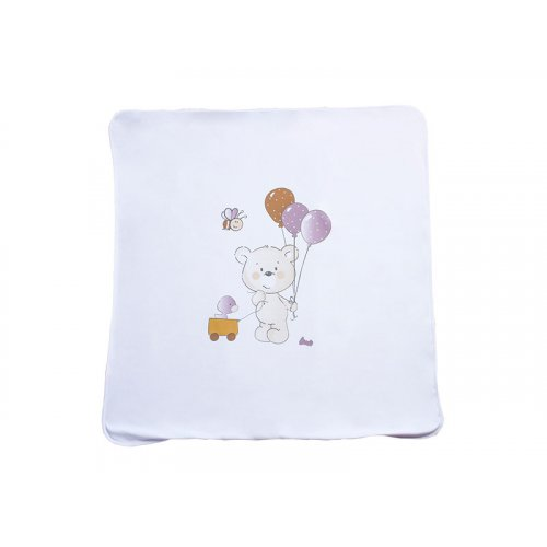 Трикотажный плед Veres Playday white rose 85х95