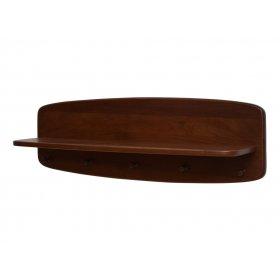 Вешалка-полочка настенная №1 орех