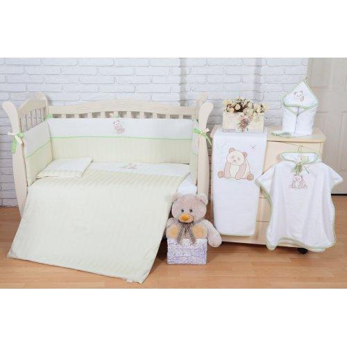 Постельное белье для новорожденного Veres Cute Panda 6 единиц