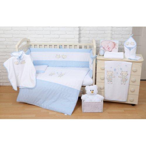Постельное белье для новорожденного Veres Fairy Tale blue 6 единиц